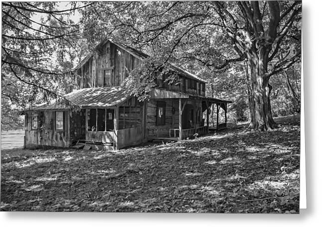 The Homestead Bw Greeting Card by Phyllis Taylor