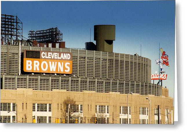 Cleveland Browns Greeting Cards - The Hometeams in Color Greeting Card by Kenneth Krolikowski