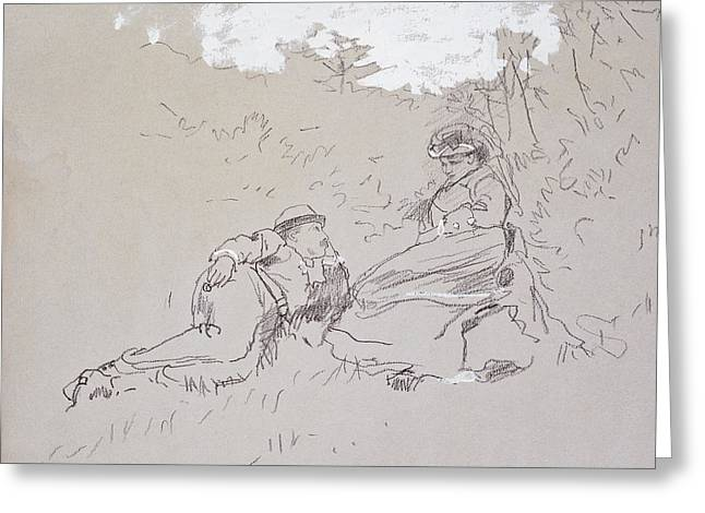 The Honeymoon Greeting Card by Winslow Homer