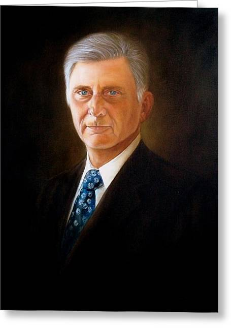 The Honorable Mike Beebe Greeting Card by RB McGrath