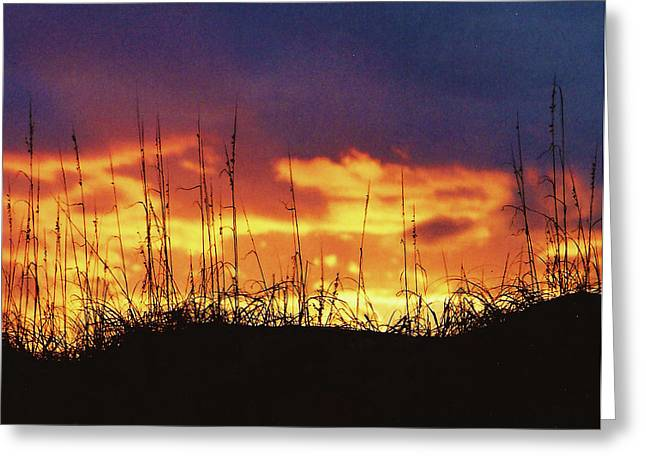 The Horizon Is Burning Greeting Card