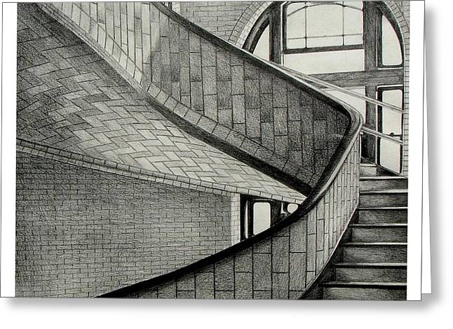 The Hornbostle Stairway Greeting Card by Peter Paul Lividini