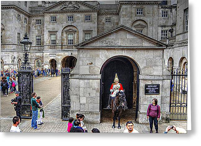 The Horse Guard At Whitehall Greeting Card by Karen McKenzie McAdoo