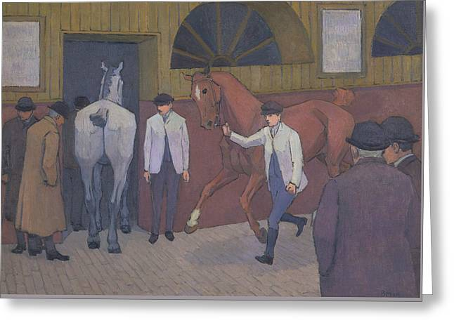 The Horse Mart Greeting Card