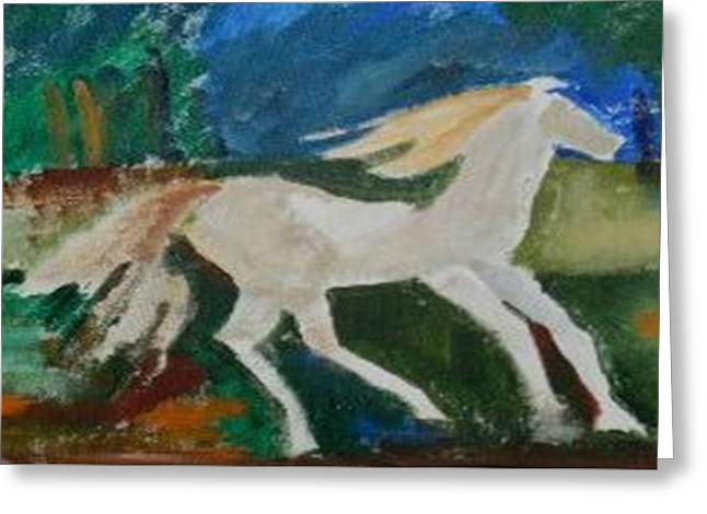 The Horse Greeting Card by Miss Ratul Banerjee