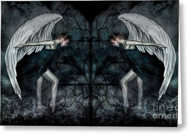 The Hosts Of Seraphim Greeting Card by Spokenin RED