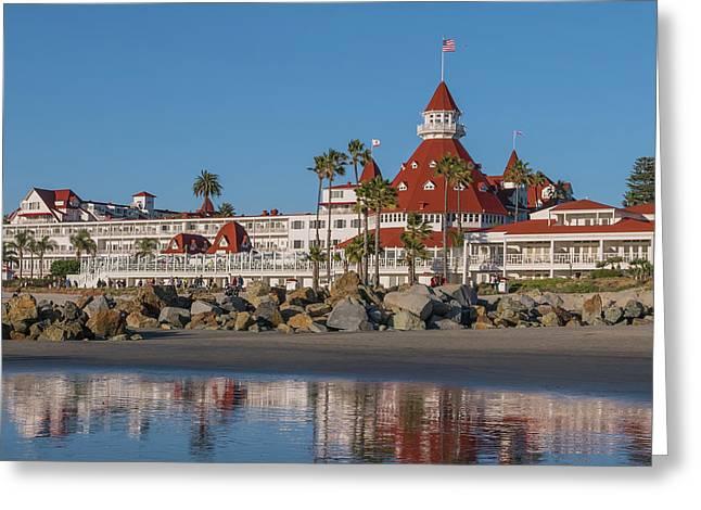 The Hotel Del Coronado Greeting Card by Robert Bellomy