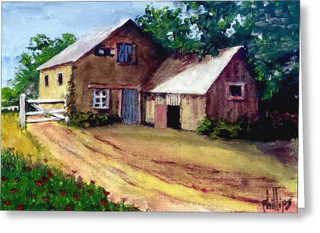 The House Barn Greeting Card by Jim Phillips
