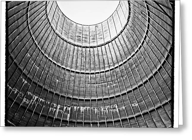 The House Inside The Cooling Tower - Abandoned Factory Greeting Card by Dirk Ercken