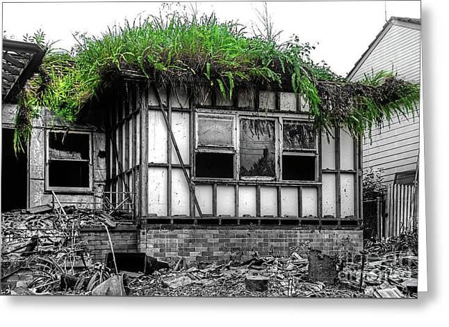 The House Of The Triffids By Kaye Menner Greeting Card