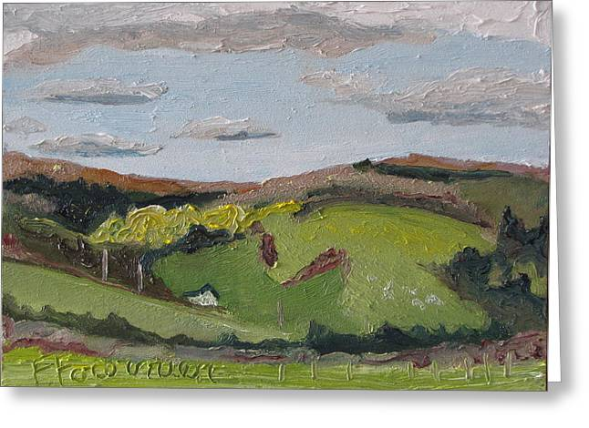 The House On The Hill Greeting Card by Francois Fournier