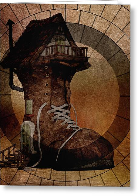 The House The Boot Maker Built Greeting Card