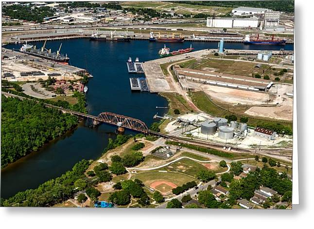The Houston Ship Channel Greeting Card by Mountain Dreams