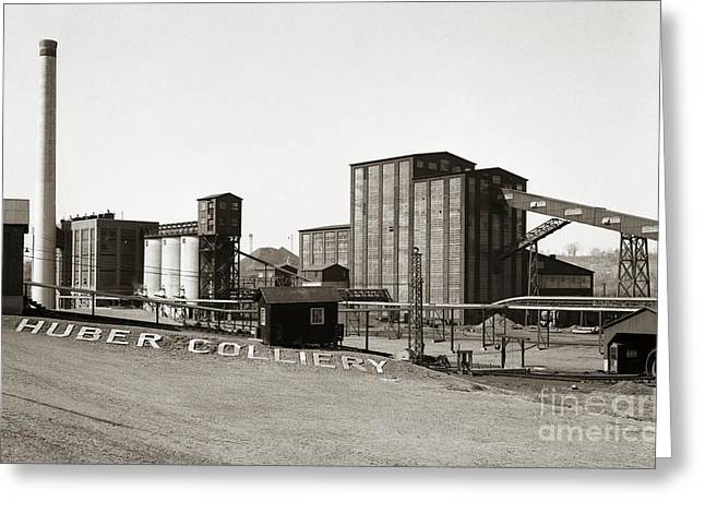 The Huber Colliery Ashley Pennsylvania 1953 Greeting Card
