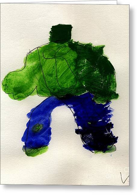 The Hulk Greeting Card by Vincent Gitto