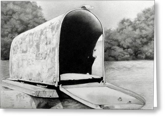 The Humble Mailbox Greeting Card by Becky West
