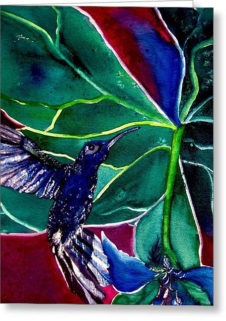The Hummingbird And The Trillium Greeting Card