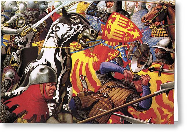 The Hundred Years War  The Struggle For A Crown Greeting Card