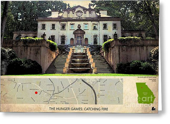 The Hunger Games Catching Fire Movie Location And Map Greeting Card