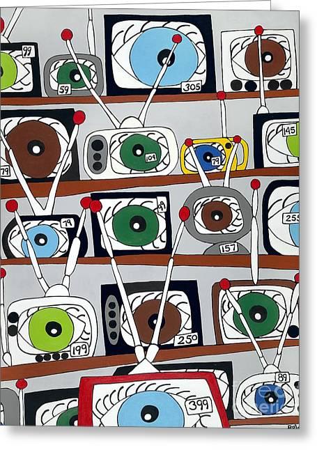The Hungry Eye Greeting Card by Rojax Art