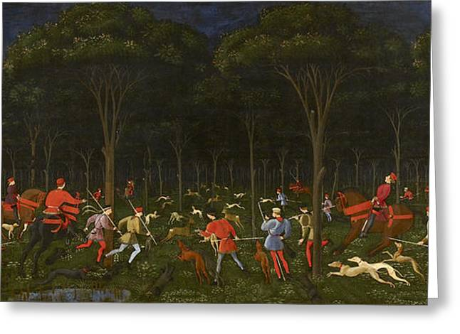The Hunt In The Forest Greeting Card