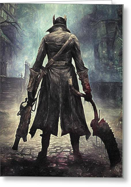 The Hunter - Bloodborne Greeting Card