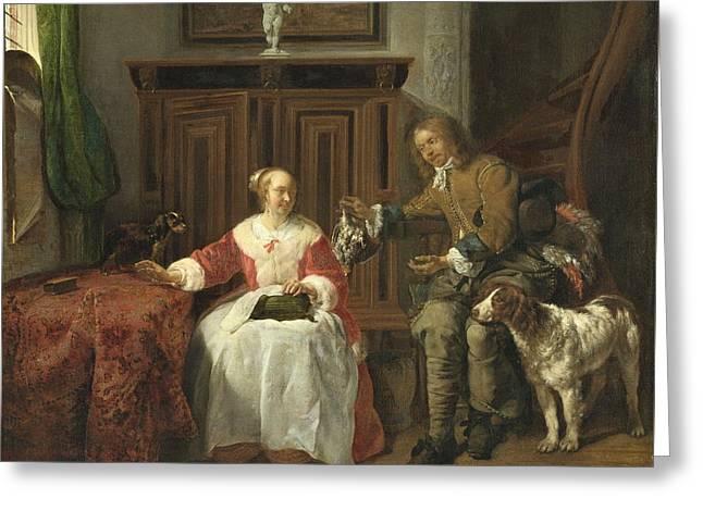 The Hunter S Present, 1661 Greeting Card by Gabriel Metsu
