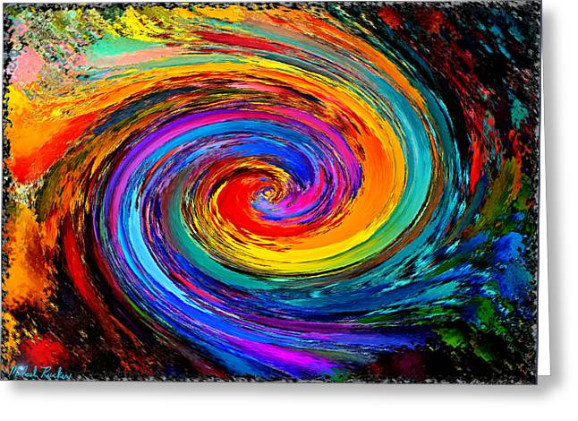 The Hurricane - Abstract Greeting Card