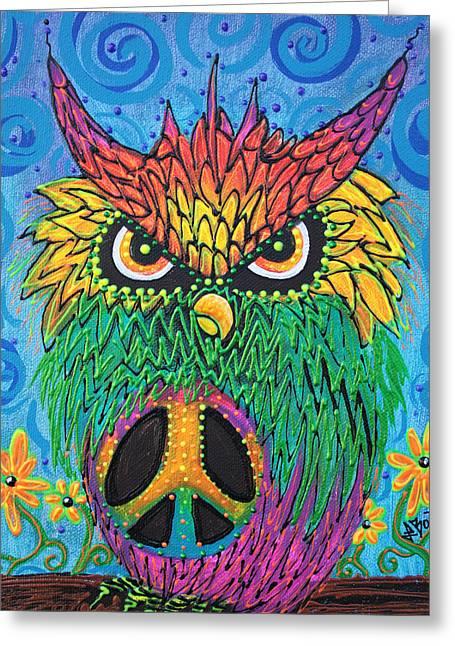 The Hush Owl Greeting Card