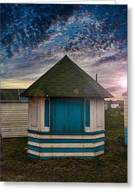 The Hut Greeting Card by Martin Newman