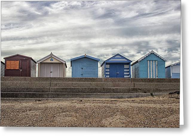 The Huts Greeting Card by Martin Newman