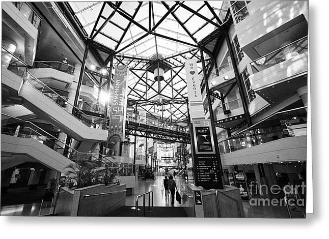 The Icc And Symphony Hall Interior Atrium Birmingham Uk Greeting Card