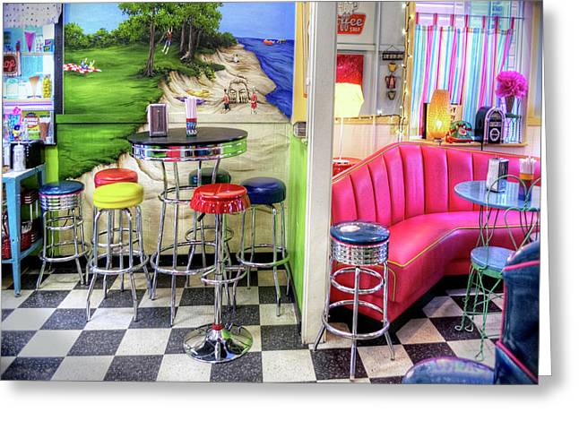 The Ice Cream Shoppe In Duval, Wa Greeting Card by Greg Sigrist