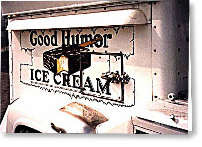 The Ice Cream Truck Is Here Greeting Card by Merton Allen
