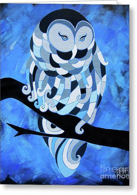 The Ice Owl Greeting Card