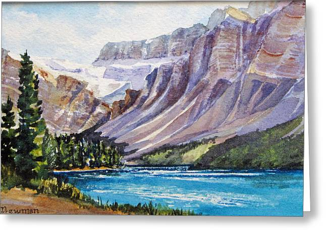 Along-the-icefield-parkway Greeting Card by Nancy Newman