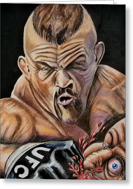 The Iceman Knocks Out A Guys Eye. Greeting Card