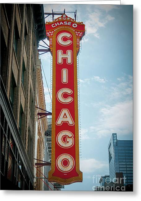 The Iconic Chicago Theater Sign Greeting Card