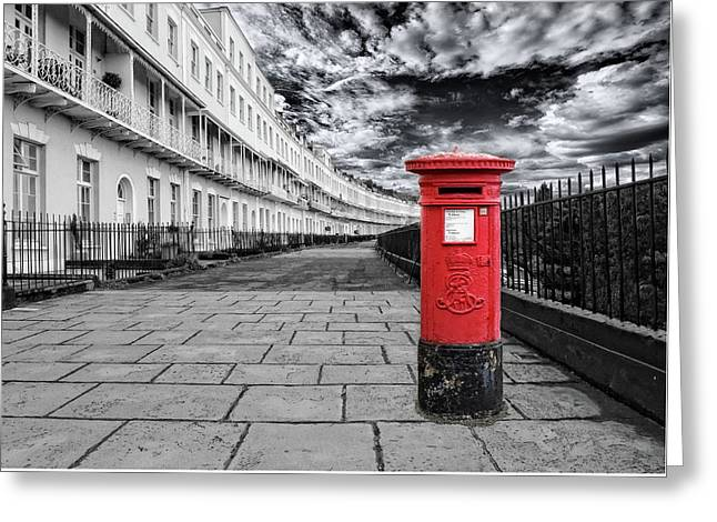 The Iconic Royal York Crescent In Clifton , Bristol , Uk Greeting Card by Alex Hardie