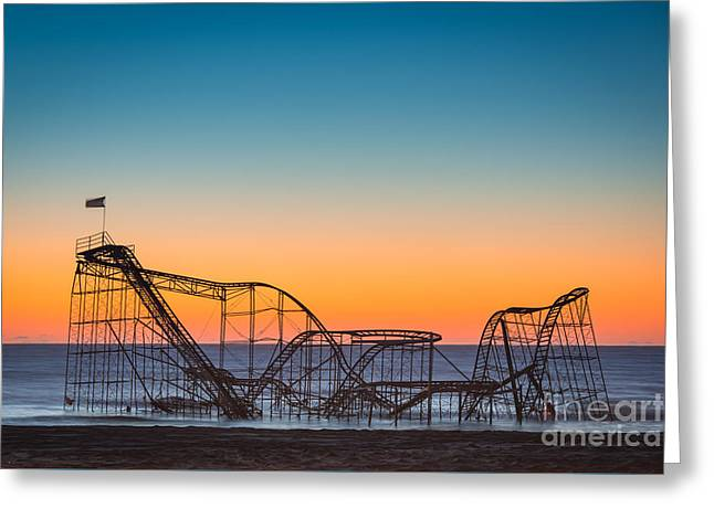 The Iconic Star Jet Roller Coaster Greeting Card by Michael Ver Sprill