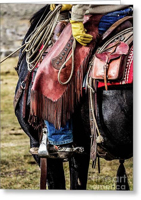 The Idaho Cowboy Western Art By Kaylyn Franks Greeting Card