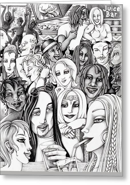 The In Crowd Greeting Card