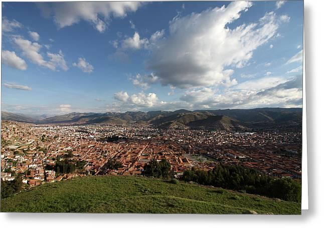 The Inca Capital Of Cusco Greeting Card by Aidan Moran