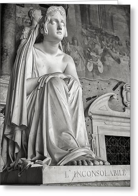 The Inconsolable Statue At Pisa Greeting Card