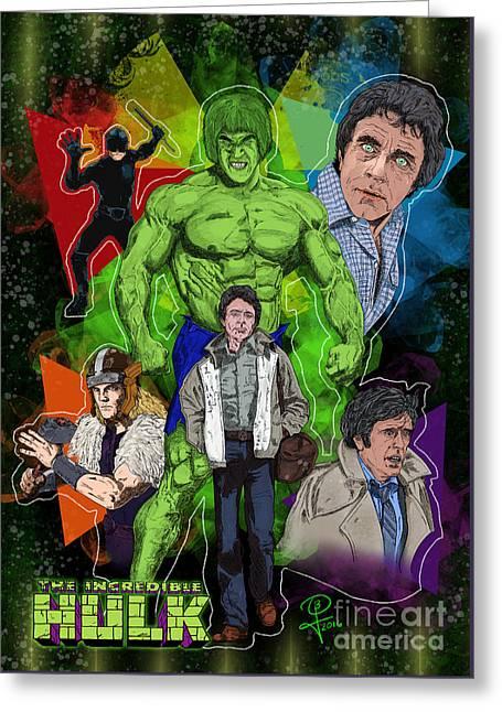 The Incredible Hulk Greeting Card by Joseph Burke
