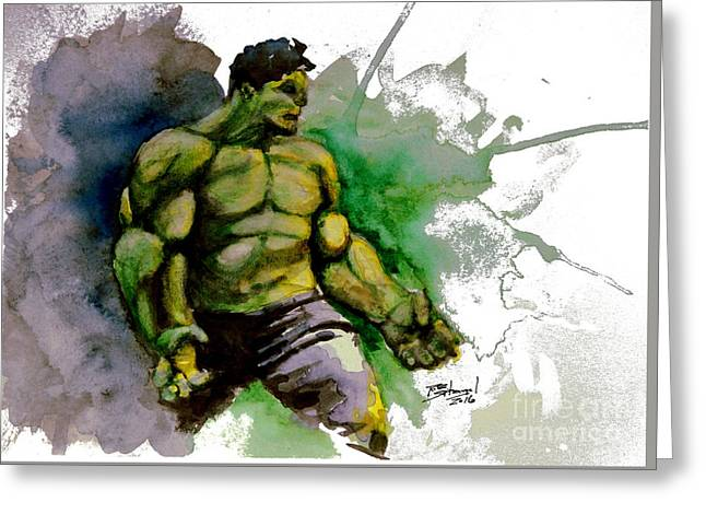 The Incredible Hulk Greeting Card by Rob Spitz