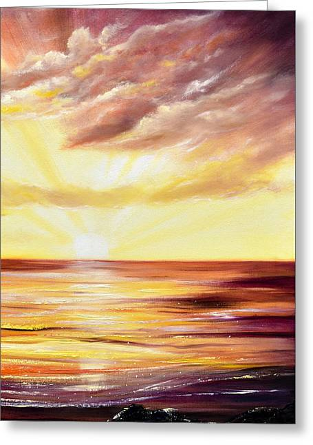 The Incredible Journey - Vertical Sunset Greeting Card