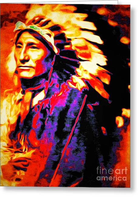 The Indian Chief 20151227 Greeting Card by Wingsdomain Art and Photography