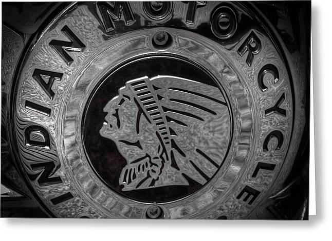 The Indian Motorcycle Logo Greeting Card by David Patterson
