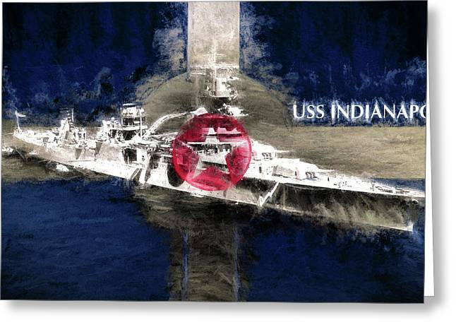 The Indianapolis Greeting Card by JC Findley